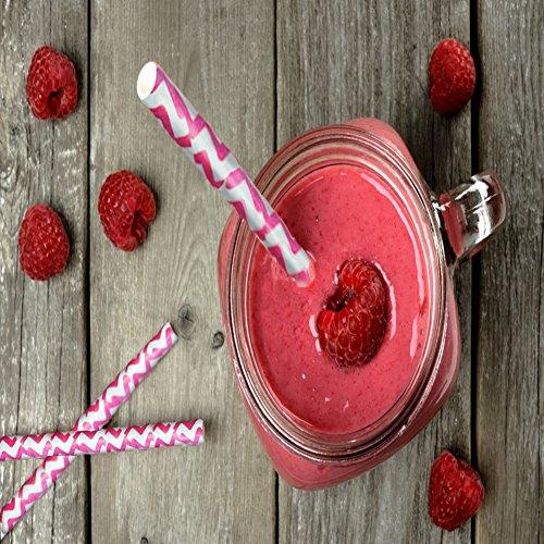 100 natur strohhalme pink rosa inkl gratis smoothie ebook abbaubare trinkhalme f r smoothies. Black Bedroom Furniture Sets. Home Design Ideas