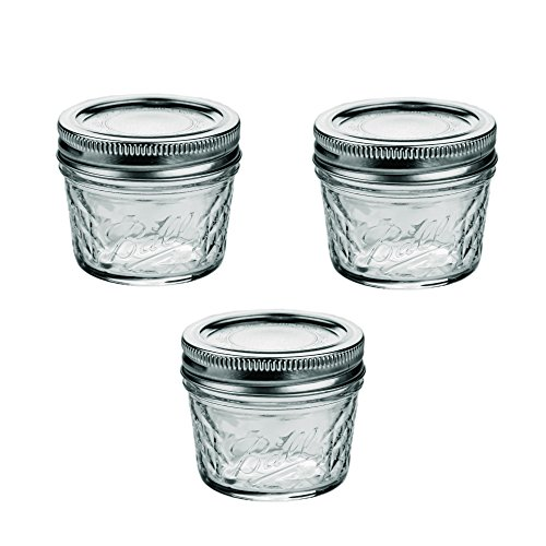 Ball Mason Quilted Crystal Jelly Jar 4oz 3er Set