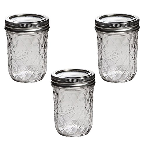 Ball Quilted Crystal Jelly Jars 8 Oz Ball Mason Quilted