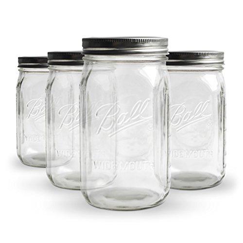koro ball mason jar wide mouth 4er set einmachglas 945 ml 32 oz luftdicht verschlie bar. Black Bedroom Furniture Sets. Home Design Ideas