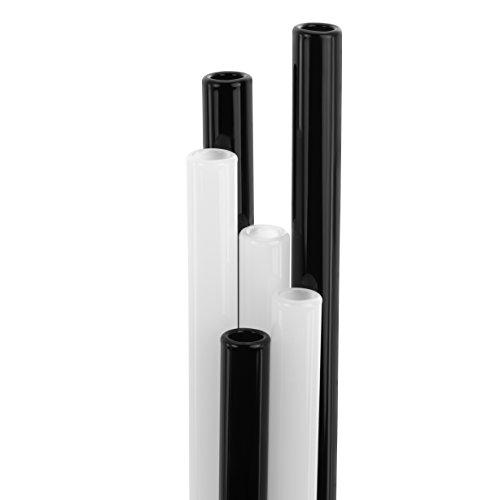 strawgrace glas strohhalme 3x schwarz 3x weiss. Black Bedroom Furniture Sets. Home Design Ideas