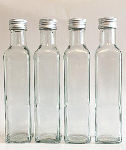 12 leere glasflaschen flaschen maraska 250ml etiketten zum beschriften incl schraubverschluss. Black Bedroom Furniture Sets. Home Design Ideas