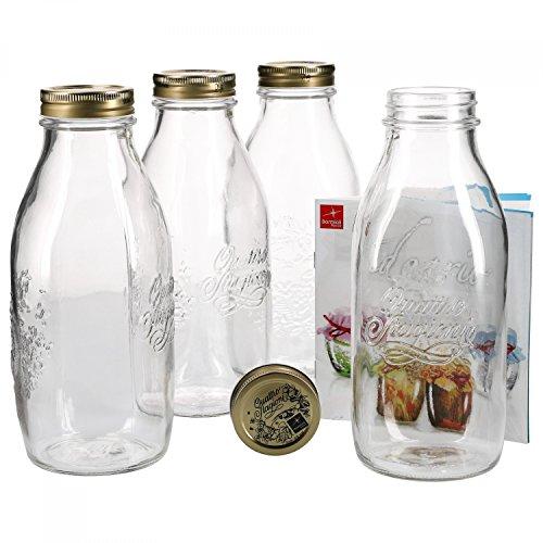 Einmachglas Orig Quattro Stagioni 0,5L incl Bormioli Rezeptheft Einmachgläser
