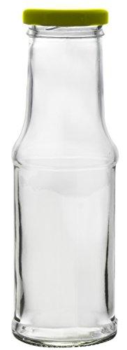 6x leere glasflasche saftflasche milchflasche smoothie einmachglas mit deckel 200ml smoothies. Black Bedroom Furniture Sets. Home Design Ideas