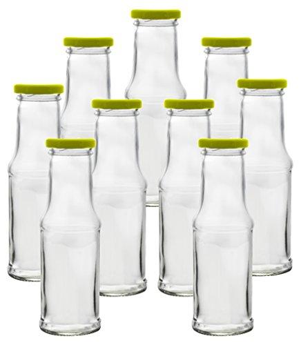9x leere glasflasche saftflasche milchflasche smoothie einmachglas mit deckel 200ml smoothies. Black Bedroom Furniture Sets. Home Design Ideas